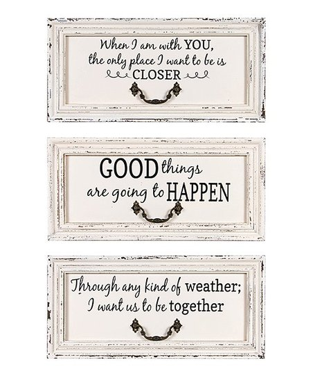 Timeless By Design Three Piece I Want It To Be Wall Sign Set