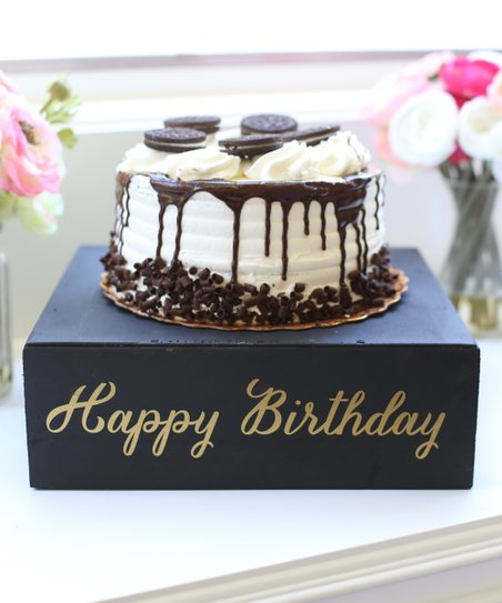 Love This Product Distressed Happy Birthday Cake Stand