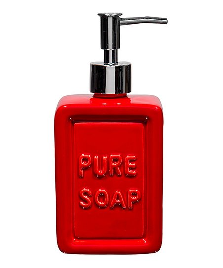 Love This Product Red Ceramic Pure Soap Dispenser