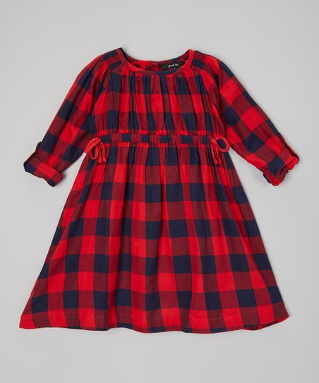 b8c27779b29 love this product Red   Black Buffalo Check Dress - Toddler   Girls