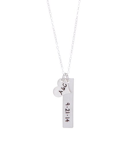 05f2ef242a97b By Hannah Design Sterling Silver Anniversary Initial Pendant Necklace