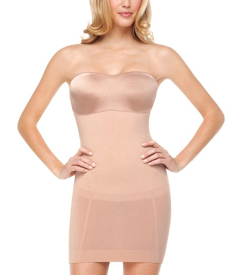 Slimmer Shine Strapless Slip Rose Gold