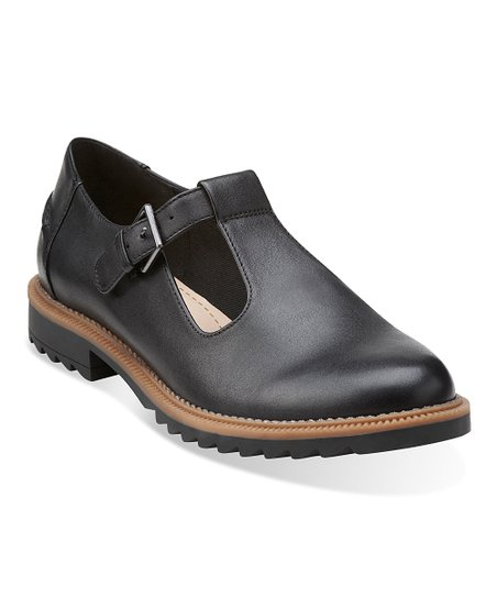 Clarks Black Griffin Monty Leather Mary Jane  479213272114
