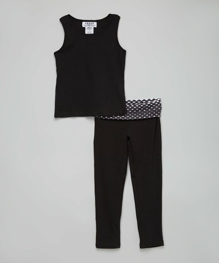 db0e6e1860414 love this product Black Triangle Yoga Pants Set - Girls
