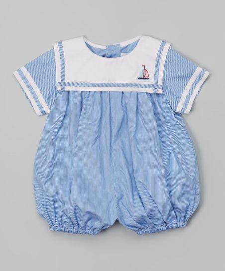 cfa9a966159 Fantaisie Kids Blue Sailboat Bubble Romper - Infant
