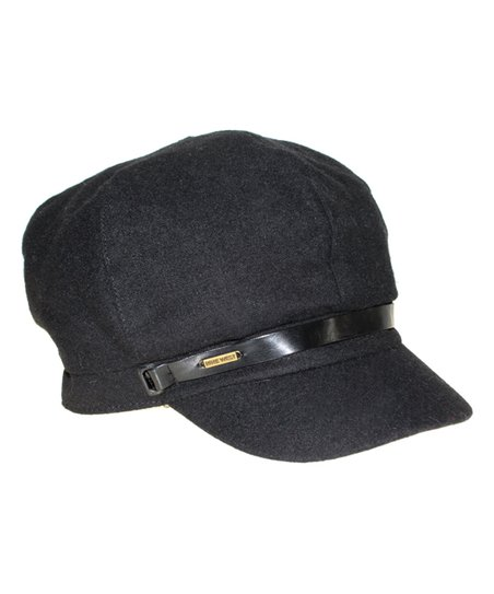 82dc8b2c Nine West Black Wool-Blend Newsboy Cap   Zulily
