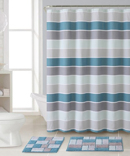 Cinder Shower Curtain Bath Rug Set