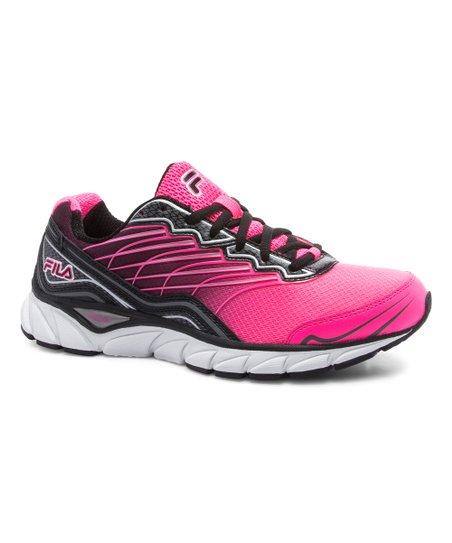 FILA Pink & Black Memory Countdown 3 Leather Running Shoe