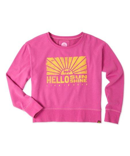 b3eb2e917 love this product Hot Fuchsia 'Hello Sunshine' Go-To Crewneck Sweatshirt