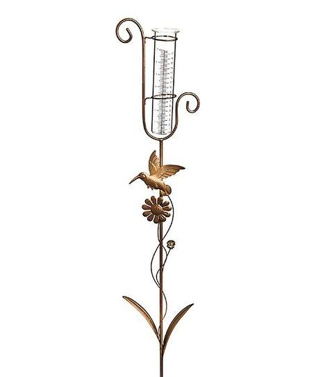 Love This Product Hummingbird Rain Gauge Garden Stake