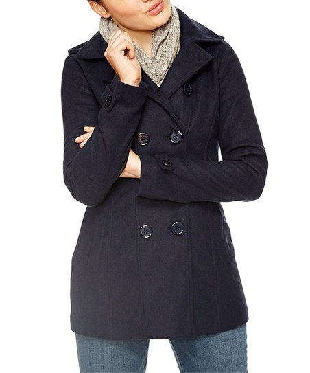 enjoy bottom price top-rated genuine limited sale dELiA*s Navy Thinsulate Hooded Peacoat | Zulily