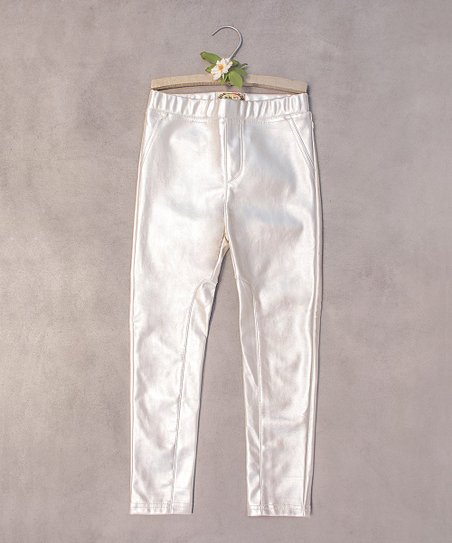 5a69c4e027f4b Joyfolie Cream Faux Leather Nancy Leggings - Toddler   Zulily