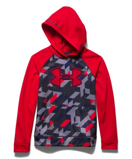 love this product Red   Gray Geometric Storm Armour® Fleece Hoodie - Boys 9f7958a329