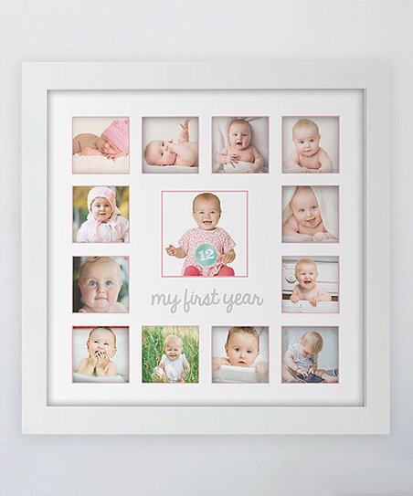 Tiny Ideas Pink First Year Frame Zulily