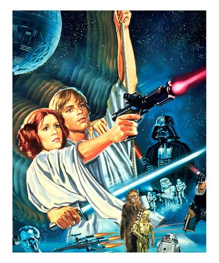 Artissimo Designs Vintage Star Wars Episode Iv Poster Zulily