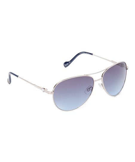 f0143d487d7f6 Jessica Simpson Collection Silver   Gray Aviator Sunglasses