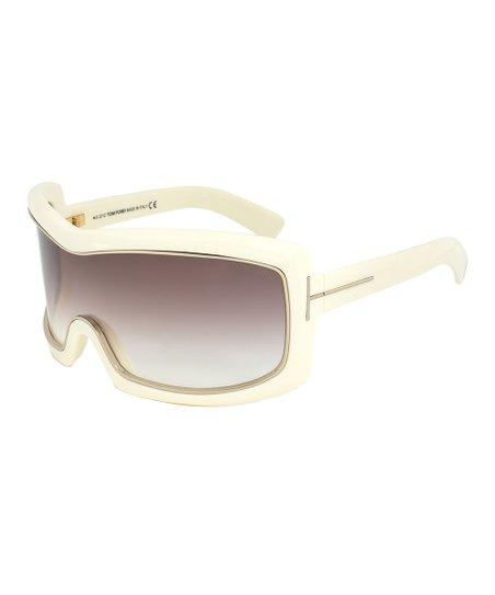 2e36efbc0c0f4 Tom Ford Ivory Olga Oversize Shield Sunglasses