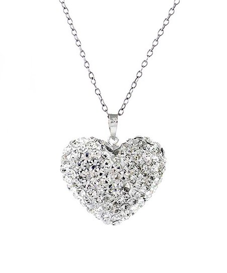 f6082d4a4a2 love this product Sterling Silver Heart Pendant Necklace With Swarovski®  Crystals