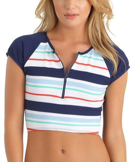 70776b8ed5c62 love this product Navy   Pastel Stripe Topanga Crop Top