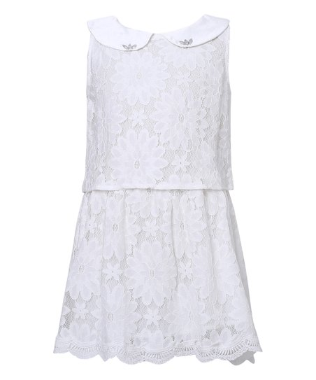White Collar Dress
