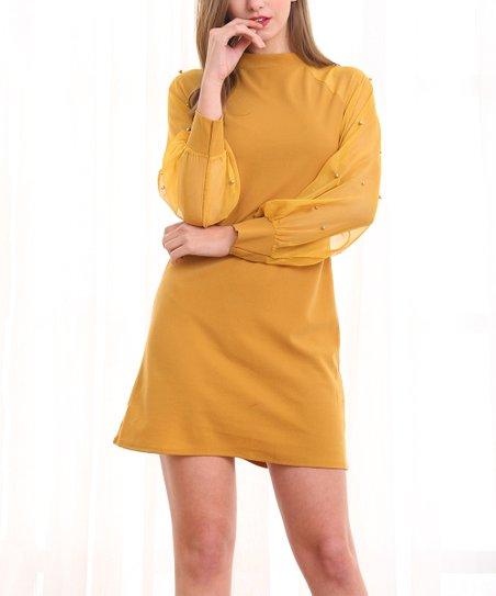 Sheer Sleeve Dress