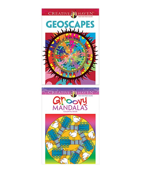 Dover Publications Geoscapes & Groovy Mandalas Coloring Book Set Best  Price And Reviews Zulily