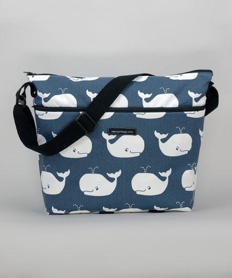 Blue Baby Whale Diaper Bag
