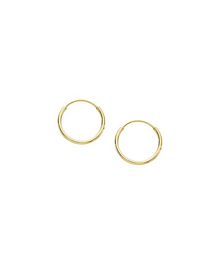 Celebrate With Gold 14k Gold 12 Mm Endless Hoop Earrings Zulily