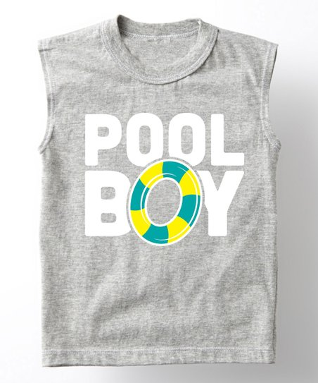 9c0d2263 love this product Athletic Heather 'Pool Boy' Muscle Tee - Toddler & Boys