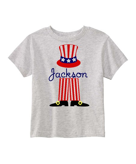 Preppy Mama Ash Uncle Sams Feet Personalized Tee Infant Toddler