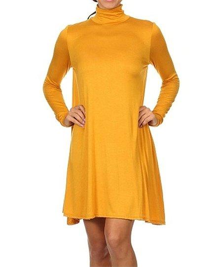 0fa590c4006 love this product Mustard Turtleneck Dress
