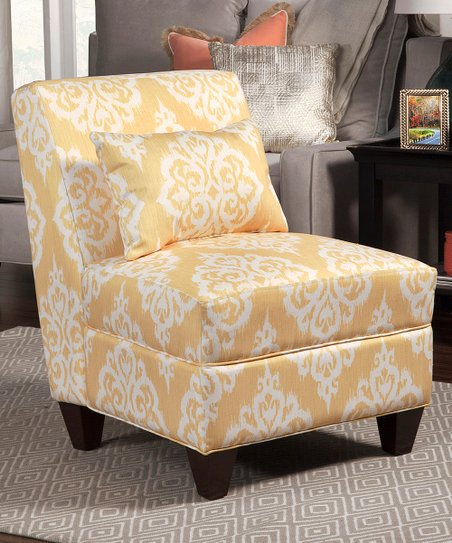 Pleasant Homepop Yellow Cream Accent Chair Squirreltailoven Fun Painted Chair Ideas Images Squirreltailovenorg