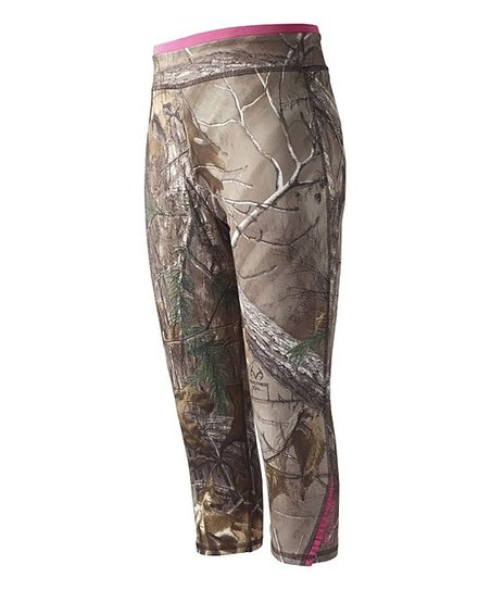 4e13bfc7f36e0 love this product Dark Brown Wilderness Realtree Xtra® Camo Capri Leggings  - Girls