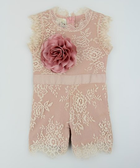 b6ee4d7d1b6e Baby Loo Vintage Rose Floral Lace Romper