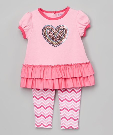 ff991f1ab563 love this product Sachet Pink Heart Swing Top & Rainbow Chevron Shorts -  Infant