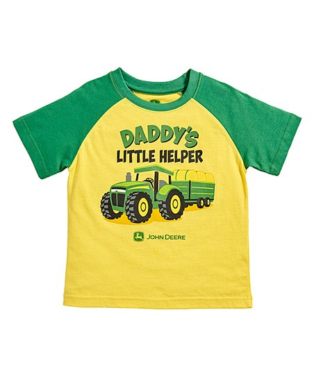 4c27655ab love this product Yellow & Green 'Daddy's Little Helper' Tee - Infant