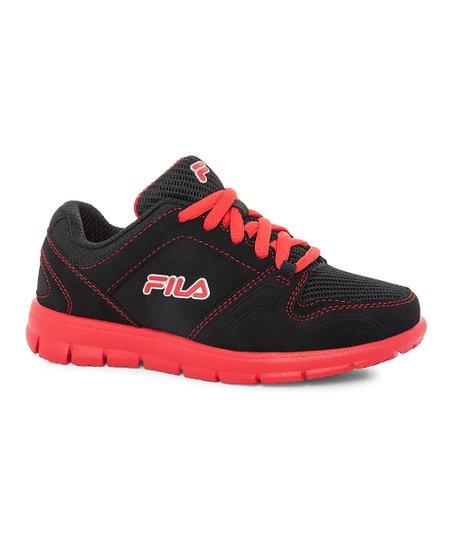 58b62a1797e2 FILA Black   Red Star Runner Sneaker - Boys