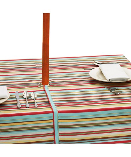 Love This Product Warm Summer Stripe Square Umbrella Tablecloth