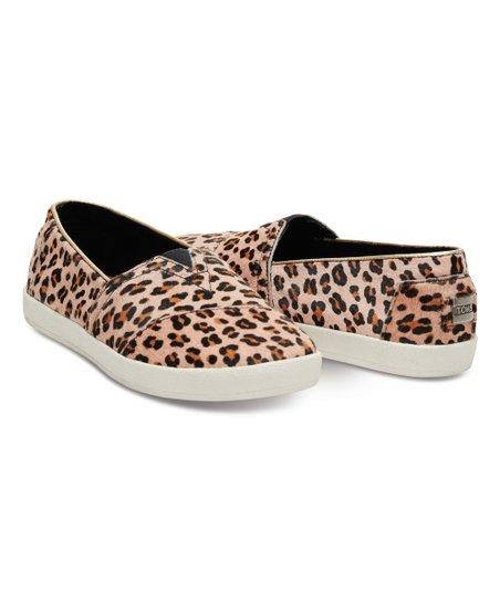 Tan Leopard Avalon Calf-Hair Sneaker