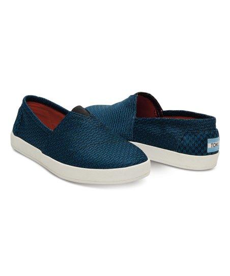 e4be71959b2 TOMS Legion Blue-Black Mesh Avalon Slip-Ons