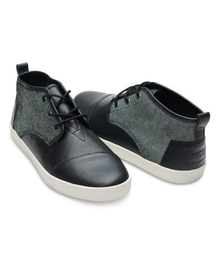 a34ea530fc0 love this product Black   White Caviar Leather Lace-Up Paseo-Mids