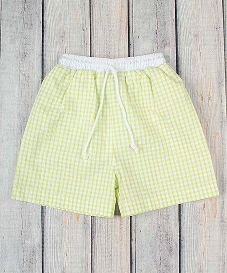 4bbe746bd2 Stellybelly Lime Checkerboard Swim Trunks - Infant & Toddler | Zulily