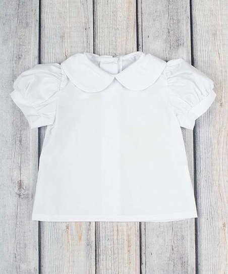 7712f28e love this product White Peter Pan Collar Shirt - Infant, Toddler & Girls