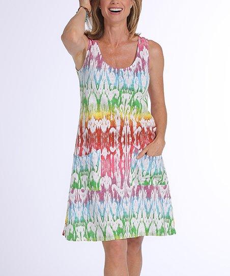 fa389fc3e80 Fresh Produce White Sun Ray Drape Dress