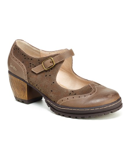 8935ae884a8 love this product Smoky Brown Sorbet Leather Mary Jane - Women