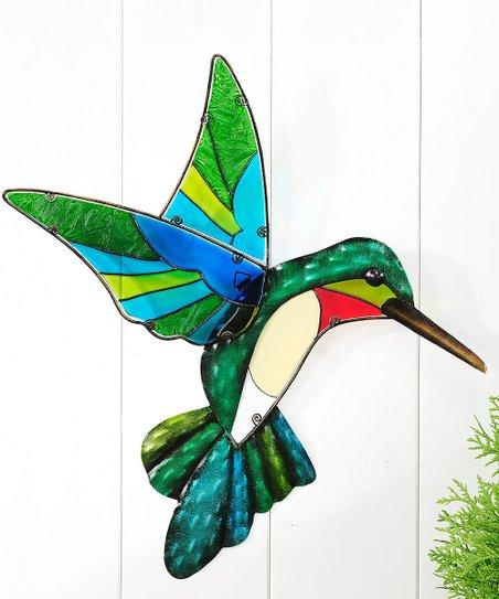 Stained Glass & Iron Hummingbird Wall Art