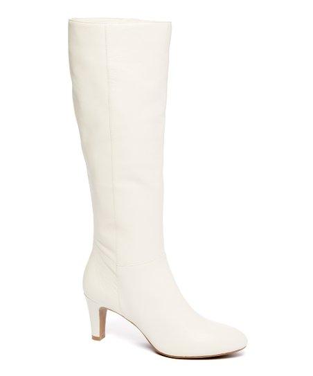 Bandolino Off-White Winola Leather Boot