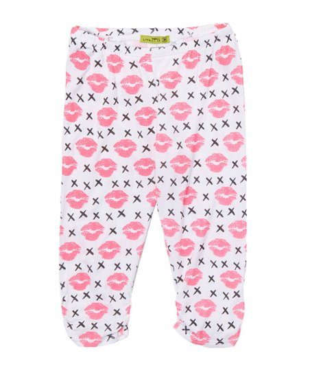 49d836ab88e74 love this product Neon Pink Hugs & Kisses Capri Leggings - Toddler