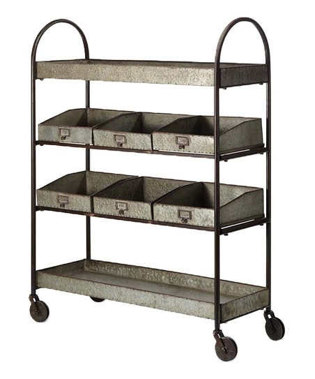 Four Level Galvanized Shelf Unit