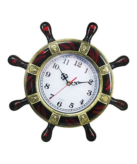 Chesapeake Bay Ship Wheel Lighted Wall Clock